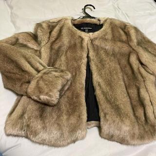 ザラ(ZARA)のファー コート zara ジャケット 冬 長袖 上着 レディース(毛皮/ファーコート)
