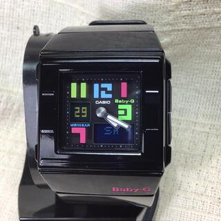 ベビージー(Baby-G)のスクエアブラックBaby-G  ベビーG腕時計 CASIO カシオ腕時計(腕時計)