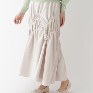 エージーバイアクアガール(AG by aquagirl)のAG by aquagirl アシンメトリーシャーリングスカート(ロングスカート)