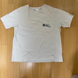 マーガレットハウエル(MARGARET HOWELL)の希少サイズ XL マーガレットハウエルmargaretロゴTシャツ(Tシャツ/カットソー(半袖/袖なし))