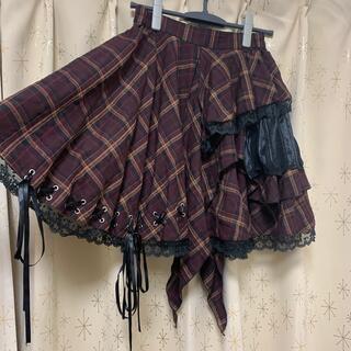 ボディライン(BODYLINE)のBODYLINE 膝上アシメントリースカート(ひざ丈スカート)