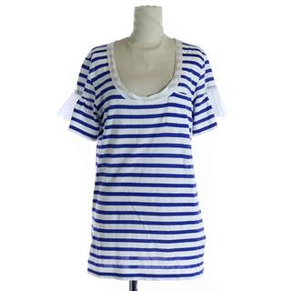 サカイラック(sacai luck)のサカイラック sacai luck Tシャツ カットソー 半袖 ボーダー 青 白(Tシャツ(半袖/袖なし))