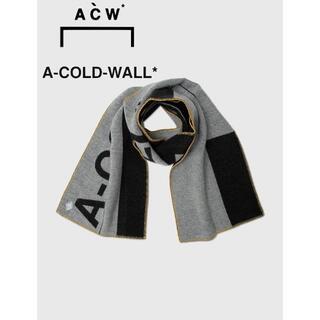 オフホワイト(OFF-WHITE)のA-COLD-WALL* ラージ ロゴ マフラー(マフラー)