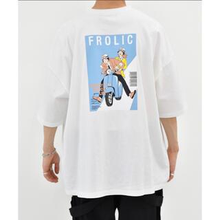 kutir Tシャツ ホワイト ライトブルー(Tシャツ/カットソー(半袖/袖なし))
