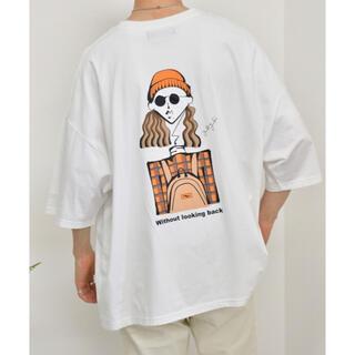kutir Tシャツ ホワイト オレンジ(Tシャツ/カットソー(半袖/袖なし))