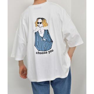 kutir Tシャツ ホワイト ブルー(Tシャツ/カットソー(半袖/袖なし))