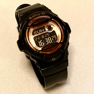 ベビージー(Baby-G)のBaby-G ベビージー 腕時計 BG-169G ブラック ピンクゴールド(腕時計)