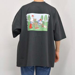 kutir Tシャツ グレー ブラック(Tシャツ/カットソー(半袖/袖なし))