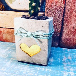 プランター 植木鉢 キャンドルスタンド Heart of gold(プランター)
