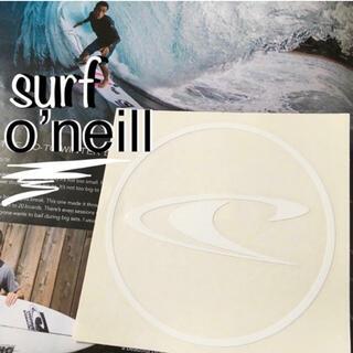 オニール(O'NEILL)のO'NEILL surfオニールUS限定激レアダイカットアイコンステッカーwht(サーフィン)