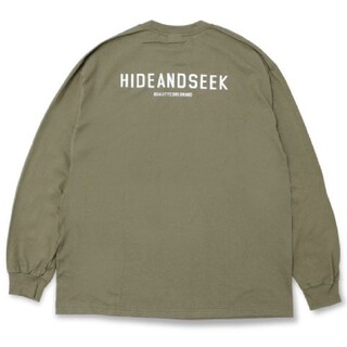 HIDE AND SEEK - HIDEANDSEEK ハイドアンドシーク LOGO L/S TEE ロンT