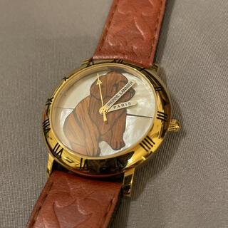 ピエールラニエ(Pierre Lannier)のPIERRE LANNIER ピエール・ラニエ ブラウン 犬 レディース 腕時計(腕時計)
