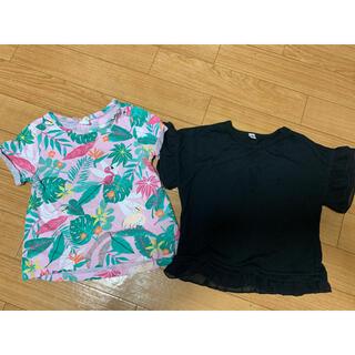 エイチアンドエム(H&M)の女の子 半袖トップス2枚セット(Tシャツ)