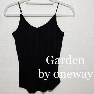 ワンウェイ(one*way)の【新品】Garden by oneway ブラトップ ブラック キャミソール(キャミソール)