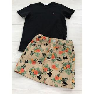 ダブルビー(DOUBLE.B)の美品 ダブルB ハイビスカス スカート(スカート)