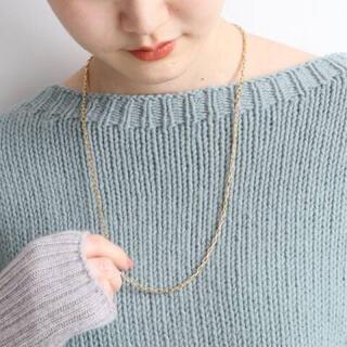イエナ(IENA)のIENA スクエアチェーンアイレットネックレス 65cm(ネックレス)