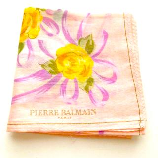 ピエールバルマン(Pierre Balmain)のPIERRE BALMAIN ピエールバルマン スカーフ ハンカチ 花柄 ピンク(ハンカチ)