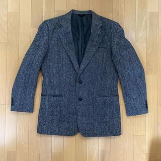 日本製 Harris Tweed ハリスツイード ウール テーラードジャケット(テーラードジャケット)