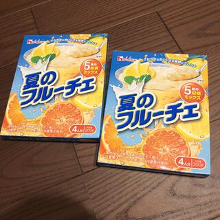 ハウスショクヒン(ハウス食品)の夏のフルーチェ二箱(菓子/デザート)