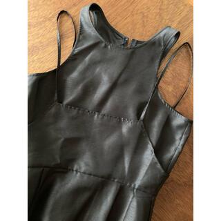 マルタンマルジェラ(Maison Martin Margiela)のconn ワンピース ブラック サイズ2 新品未使用(ロングワンピース/マキシワンピース)
