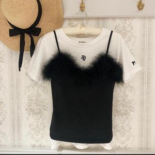 snidel - 《Treat ürself同型》bunny camisole Black ♡