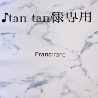 フランフラン(Francfranc)のFrancfranc☆ボーダーエプロン グレー+ラッピング3点セット(その他)