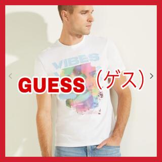 ゲス(GUESS)の【70%OFF♪︎試着のみ】ゲス 半袖Tシャツ ホワイト XLサイズ(Tシャツ/カットソー(半袖/袖なし))