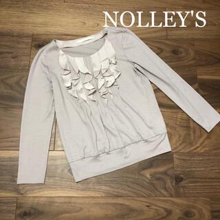 ノーリーズ(NOLLEY'S)のNOLLEY'S☆ノーリーズソフィ☆フリルカットソー☆サイズ36(カットソー(長袖/七分))