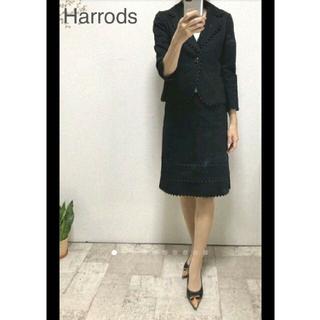 ハロッズ(Harrods)のハロッズピコレーススカートスーツ黒1/ポールスチュワート ルネ エムズグレイシー(スーツ)