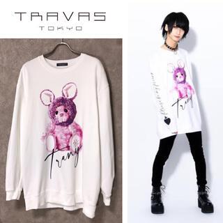 ミルクボーイ(MILKBOY)のTRAVAS TOKYO Trany Bear くまプリント スウェット(スウェット)