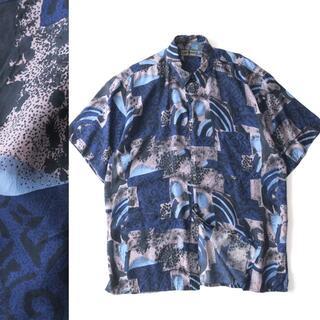 ROBERT STOCK 総柄シルクシャツ / レトロ / ボックスワイド(シャツ)
