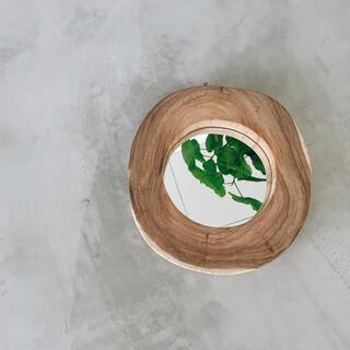 フランフラン(Francfranc)のverio wood mirror(ミラー)