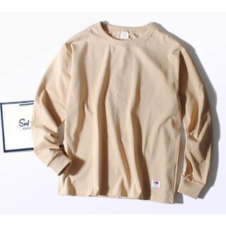 ロンハーマン(Ron Herman)のFruit Of The Loom 8.5oz厚手 Tシャツ ベージュ ヘビー(Tシャツ/カットソー(七分/長袖))