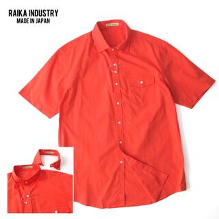 未使用 RAIKA INDUSTRY ライカ 2WAY襟◎バンドカラーシャツ(シャツ)