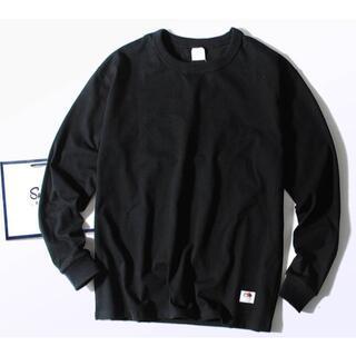 ロンハーマン(Ron Herman)のFruit Of The Loom 8.5oz厚手 Tシャツ ブラックM ヘビー(Tシャツ/カットソー(七分/長袖))