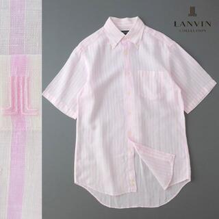 ランバン(LANVIN)のLANVIN collection  ストライプ リネンシャツ/ボタンダウン(シャツ)