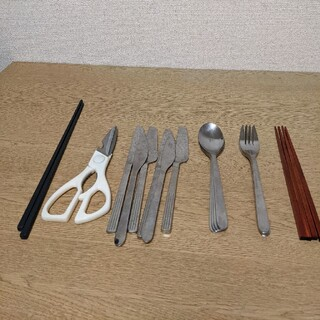 イケア(IKEA)のIKEAのカトラリーセット 菜ばし+キッチンバサミ+木曽ヒノキ箸4本(カトラリー/箸)