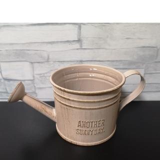 220 ピンク ジョウロ ブリキ プランター ミニ インテリア 植木鉢(プランター)