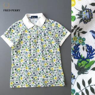 フレッドペリー(FRED PERRY)の美品★FRED PERRY フレッドペリー フローラル/花柄 ポロシャツ(ポロシャツ)