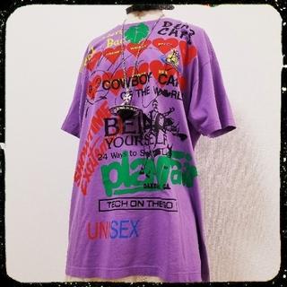 ヴィヴィアンウエストウッド(Vivienne Westwood)の未使用・Meaningless T-shirt・パープル(Tシャツ/カットソー(半袖/袖なし))