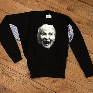 ヴィヴィアンウエストウッド(Vivienne Westwood)の新品・Worlds end限定・Face print Sweatshirt(トレーナー/スウェット)