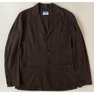 フィナモレ(FINAMORE)のFinamore×インターナショナルギャラリー シャツジャケット48ブラウン(テーラードジャケット)