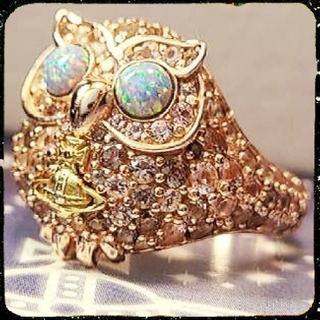 ヴィヴィアンウエストウッド(Vivienne Westwood)の新品・LOUISETTE Ring Pink Gold XS(リング(指輪))