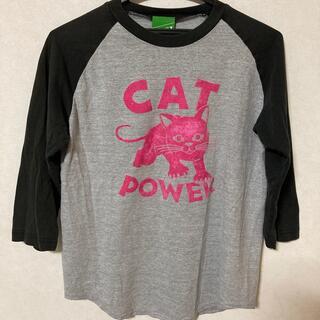 ビームス(BEAMS)のレア!! beams ビームス 猫 ネコ  七分袖 Tシャツ 黒 ピンク グレー(Tシャツ(長袖/七分))