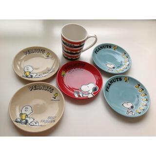 スヌーピー(SNOOPY)のスヌーピーの陶器のお皿と陶器のカップ (食器)