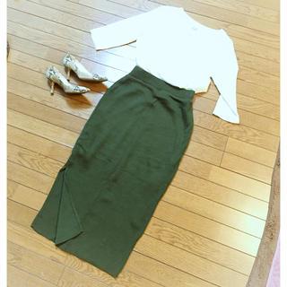 バーニーズニューヨーク(BARNEYS NEW YORK)のリブタイトスカート【専用】(ロングスカート)