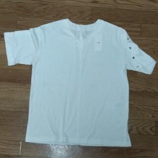 ニジュウサンク(23区)の23区 レディース Tシャツ ホワイト(Tシャツ(半袖/袖なし))