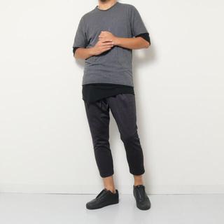リップヴァンウィンクル(ripvanwinkle)の美品 RIPVANWINKLE  DOUBLE DOLMAN tee(Tシャツ/カットソー(半袖/袖なし))