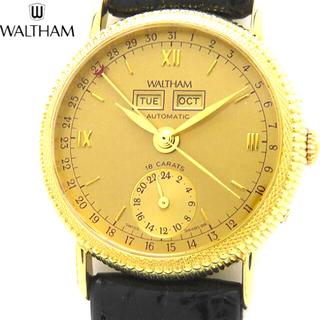 ウォルサム(Waltham)のウォルサム  18k スケルトン ハイブランド メンズ 自動巻 腕時計(腕時計(アナログ))