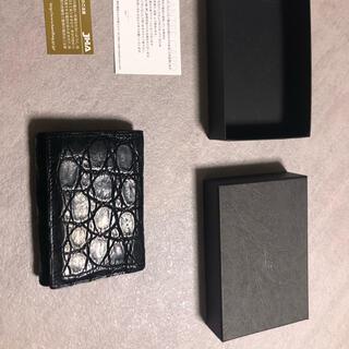 エムピウ(m+)のストラッチョ スペリオーレ クロコ 定価4万円(折り財布)